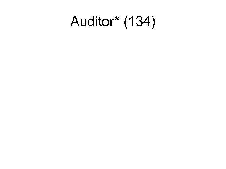 Auditor* (134)