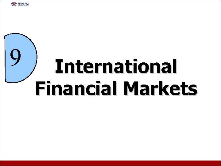 9 International Financial Markets