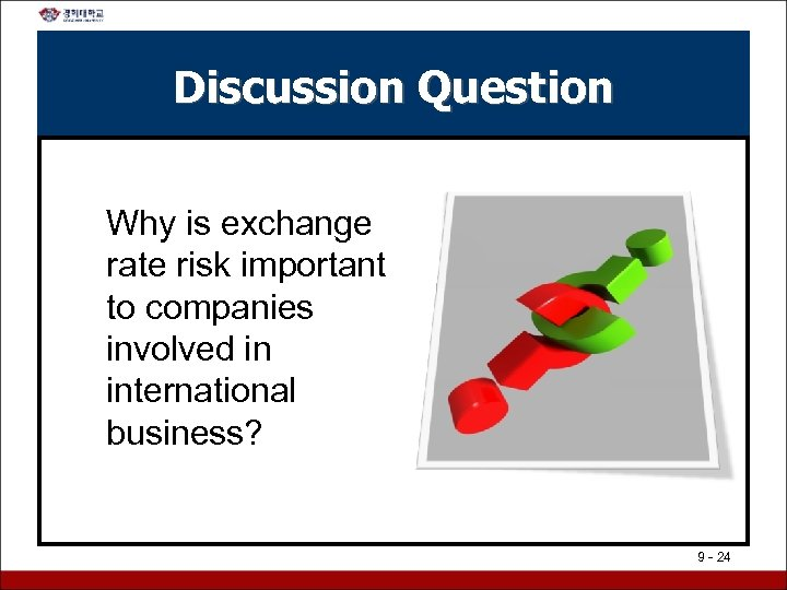 Discussion Question Why is exchange rate risk important to companies involved in international business?