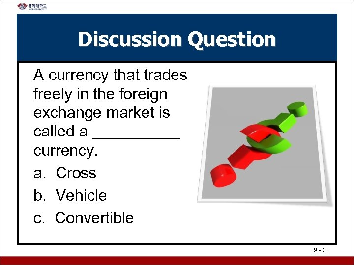 Discussion Question A currency that trades freely in the foreign exchange market is called