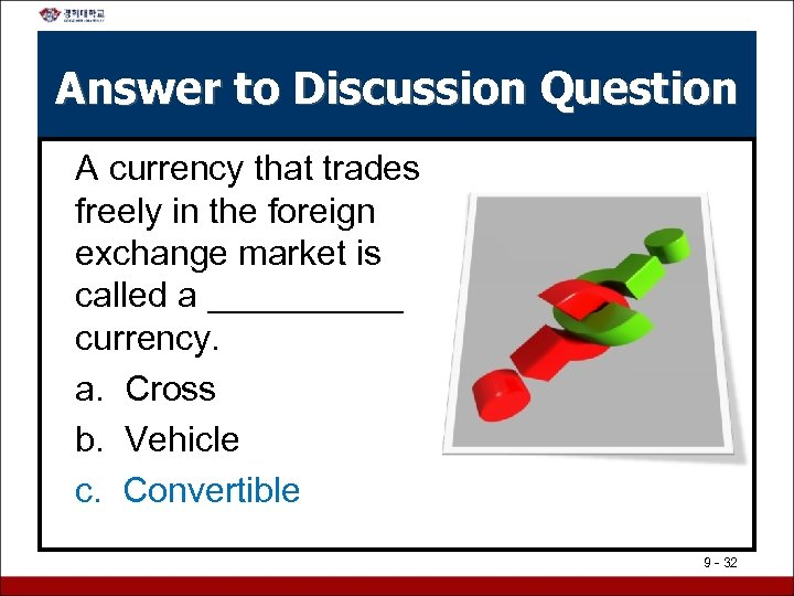Answer to Discussion Question A currency that trades freely in the foreign exchange market