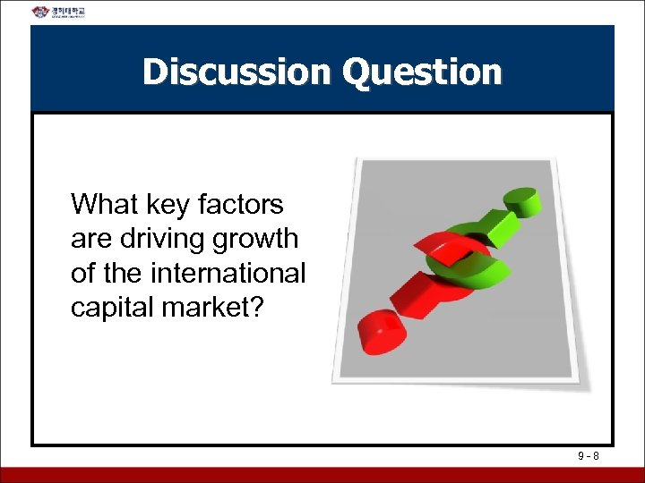 Discussion Question What key factors are driving growth of the international capital market? 9