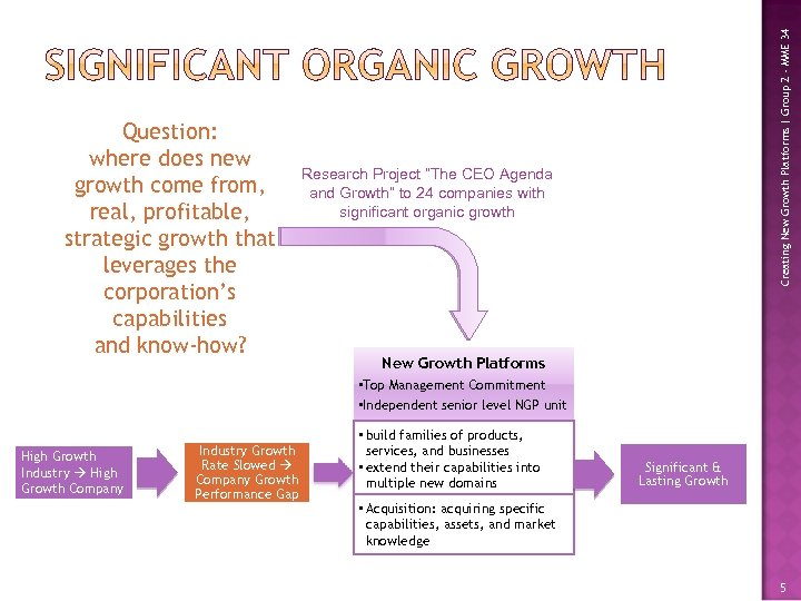 Creating New Growth Platforms | Group 2 - MME 34 Question: where does new