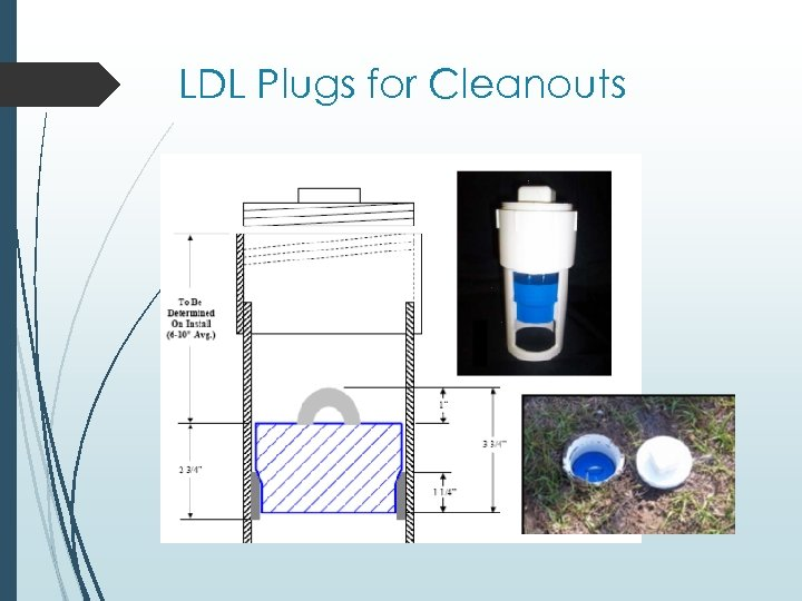 LDL Plugs for Cleanouts