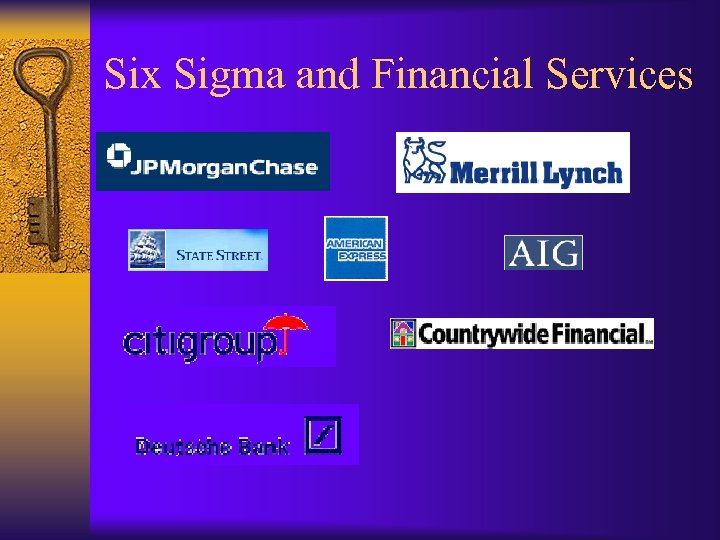 Six Sigma and Financial Services