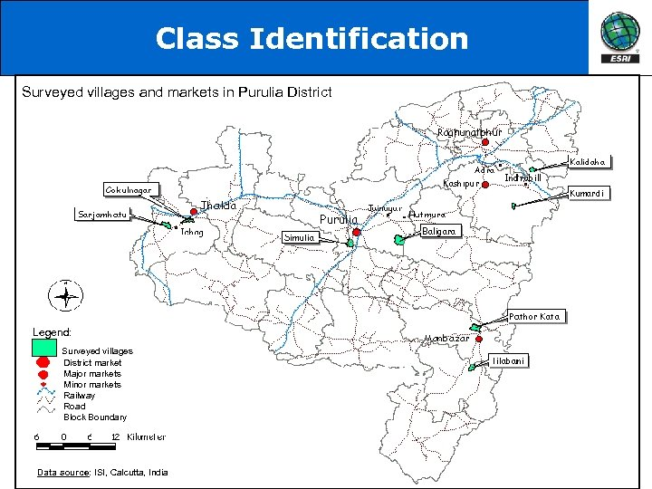 Class Identification Surveyed villages and markets in Purulia District Legend: Surveyed villages District market