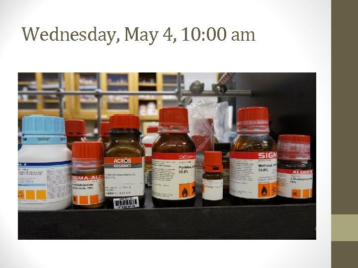 Wednesday, May 4, 10: 00 am