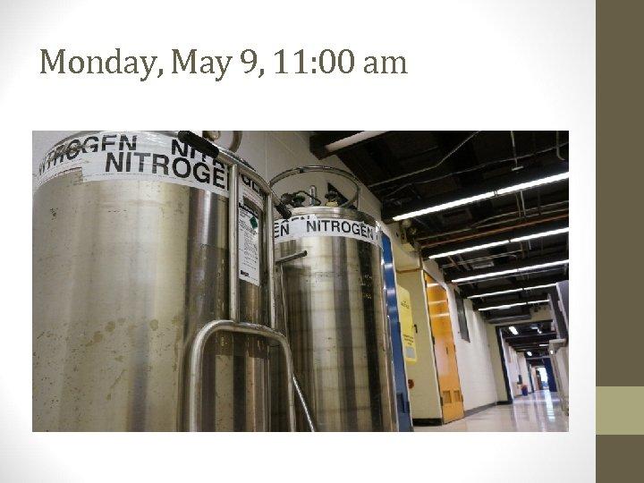 Monday, May 9, 11: 00 am
