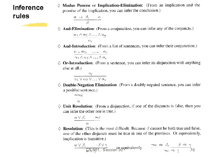 Inference rules CS 561, Session 30 76