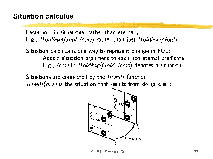 Situation calculus CS 561, Session 30 87