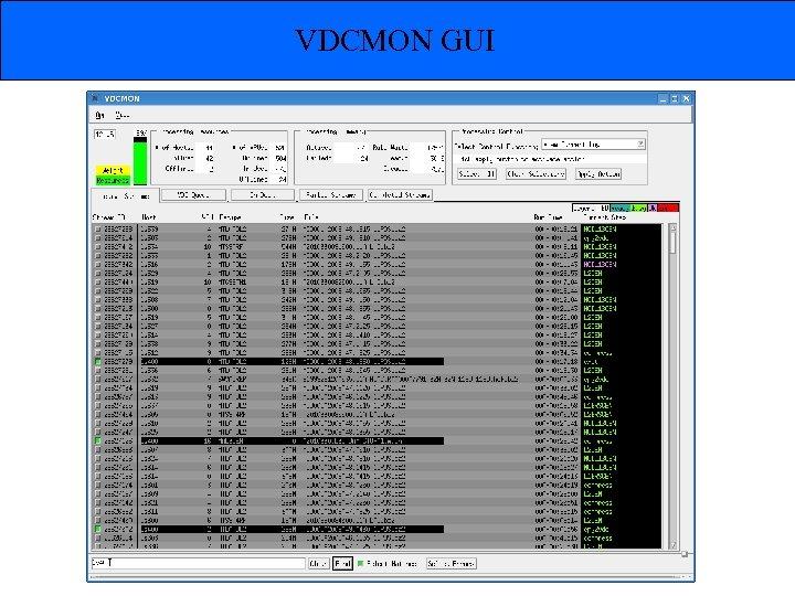 VDCMON GUI