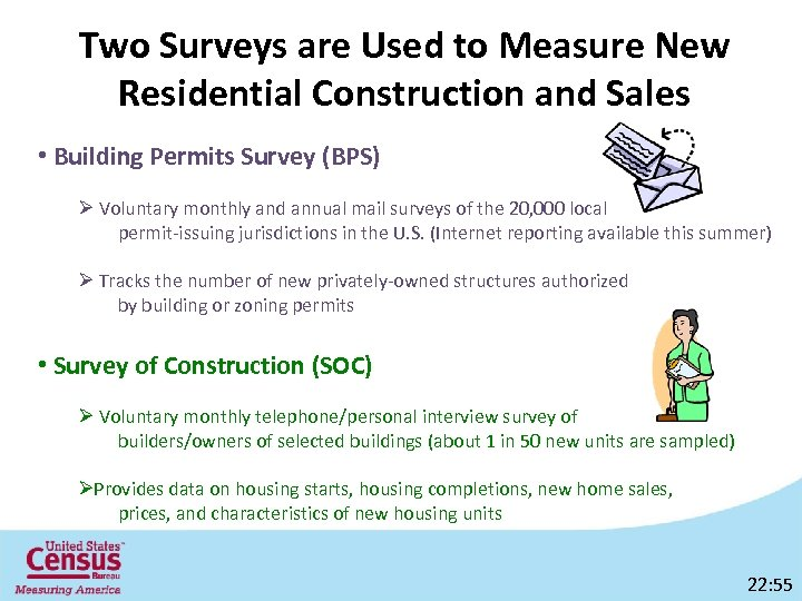 Two Surveys are Used to Measure New Residential Construction and Sales • Building Permits