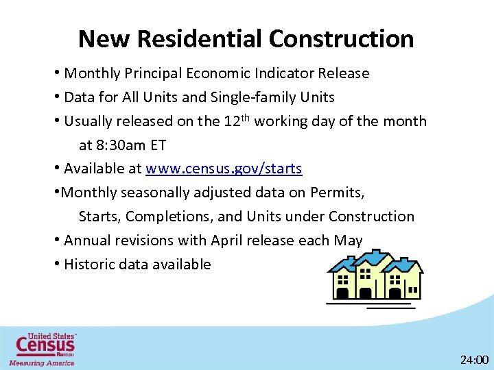New Residential Construction • Monthly Principal Economic Indicator Release • Data for All Units