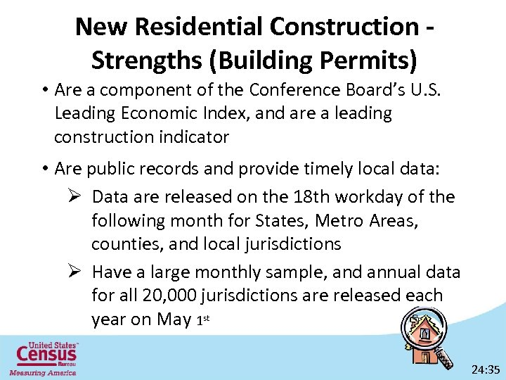 New Residential Construction Strengths (Building Permits) • Are a component of the Conference Board's