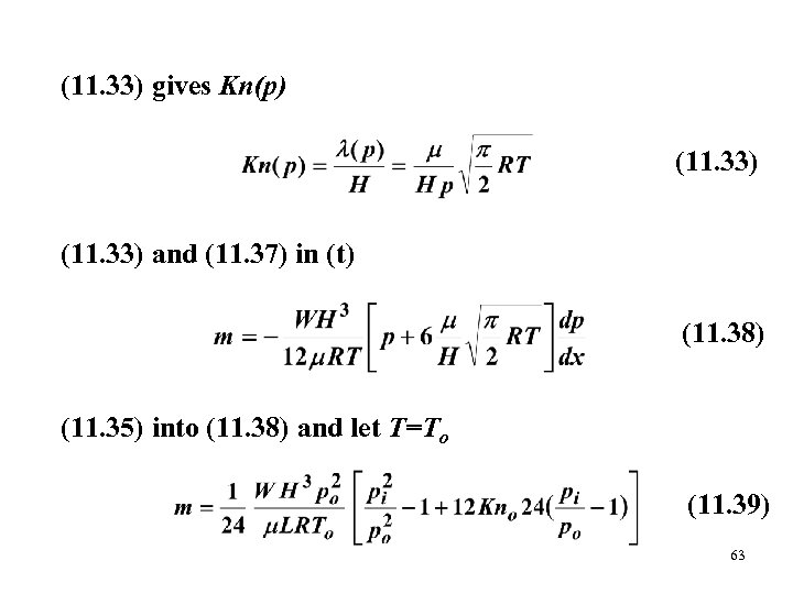 (11. 33) gives Kn(p) (11. 33) and (11. 37) in (t) (11. 38) (11.