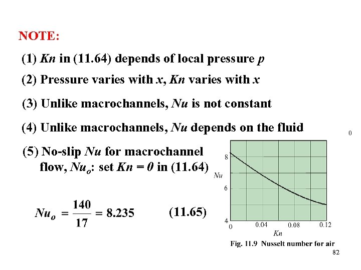 NOTE: (1) Kn in (11. 64) depends of local pressure p (2) Pressure varies