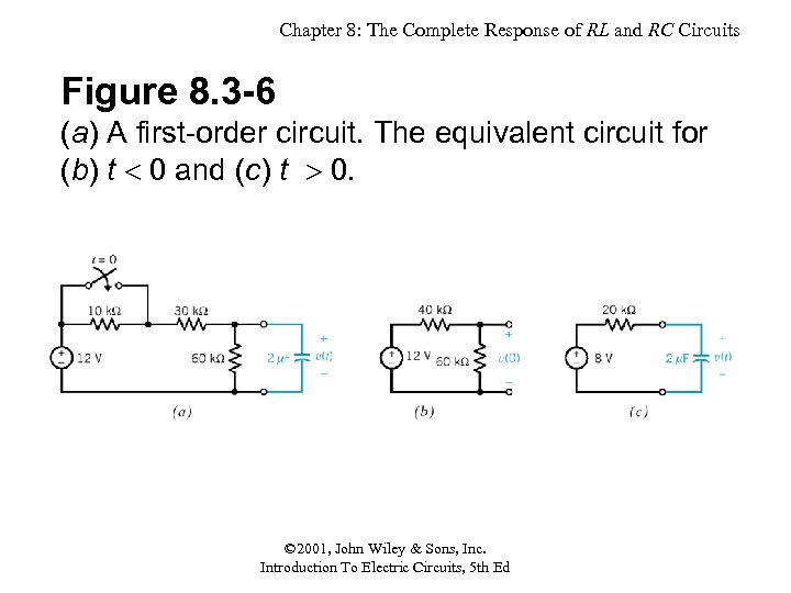 Chapter 8: The Complete Response of RL and RC Circuits Figure 8. 3 -6