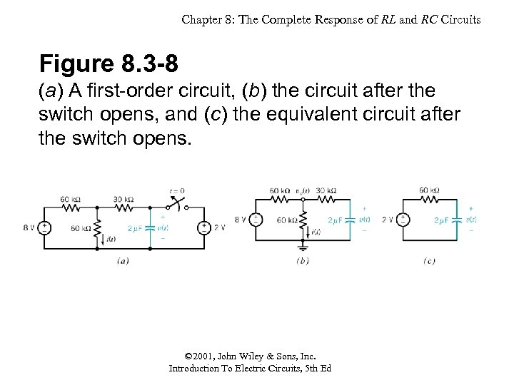 Chapter 8: The Complete Response of RL and RC Circuits Figure 8. 3 -8
