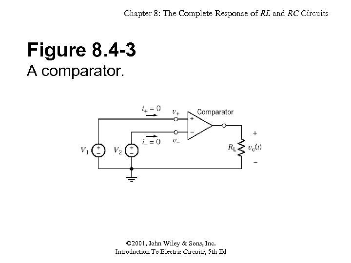 Chapter 8: The Complete Response of RL and RC Circuits Figure 8. 4 -3