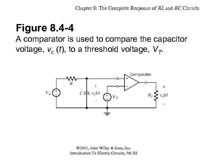 Chapter 8: The Complete Response of RL and RC Circuits Figure 8. 4 -4