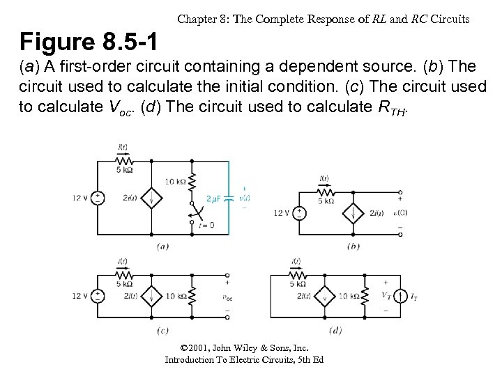 Chapter 8: The Complete Response of RL and RC Circuits Figure 8. 5 -1