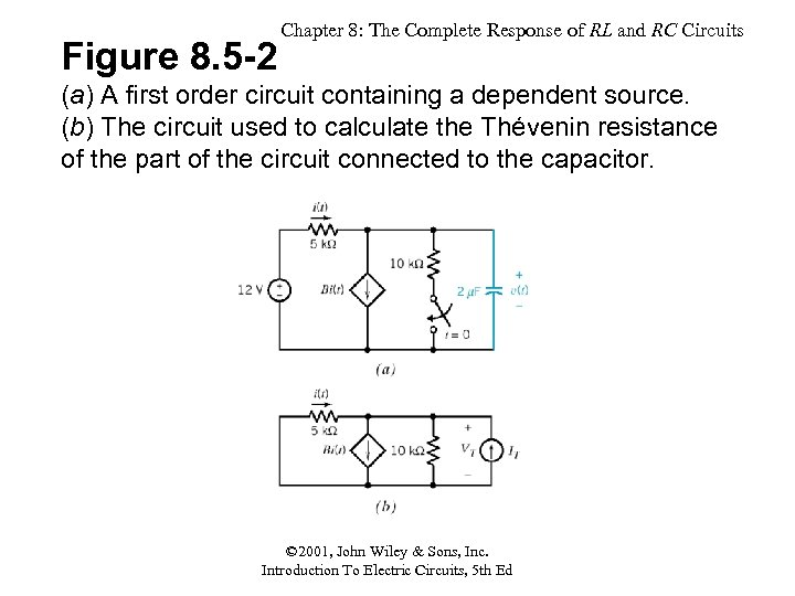 Figure 8. 5 -2 Chapter 8: The Complete Response of RL and RC Circuits