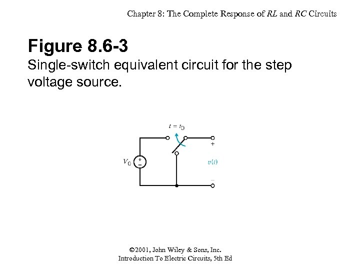Chapter 8: The Complete Response of RL and RC Circuits Figure 8. 6 -3