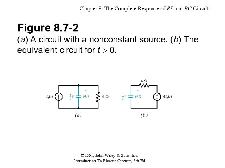Chapter 8: The Complete Response of RL and RC Circuits Figure 8. 7 -2