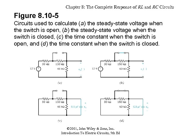 Chapter 8: The Complete Response of RL and RC Circuits Figure 8. 10 -5