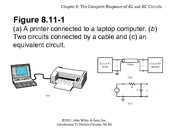Chapter 8: The Complete Response of RL and RC Circuits Figure 8. 11 -1