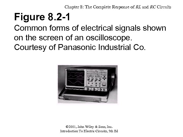 Chapter 8: The Complete Response of RL and RC Circuits Figure 8. 2 -1