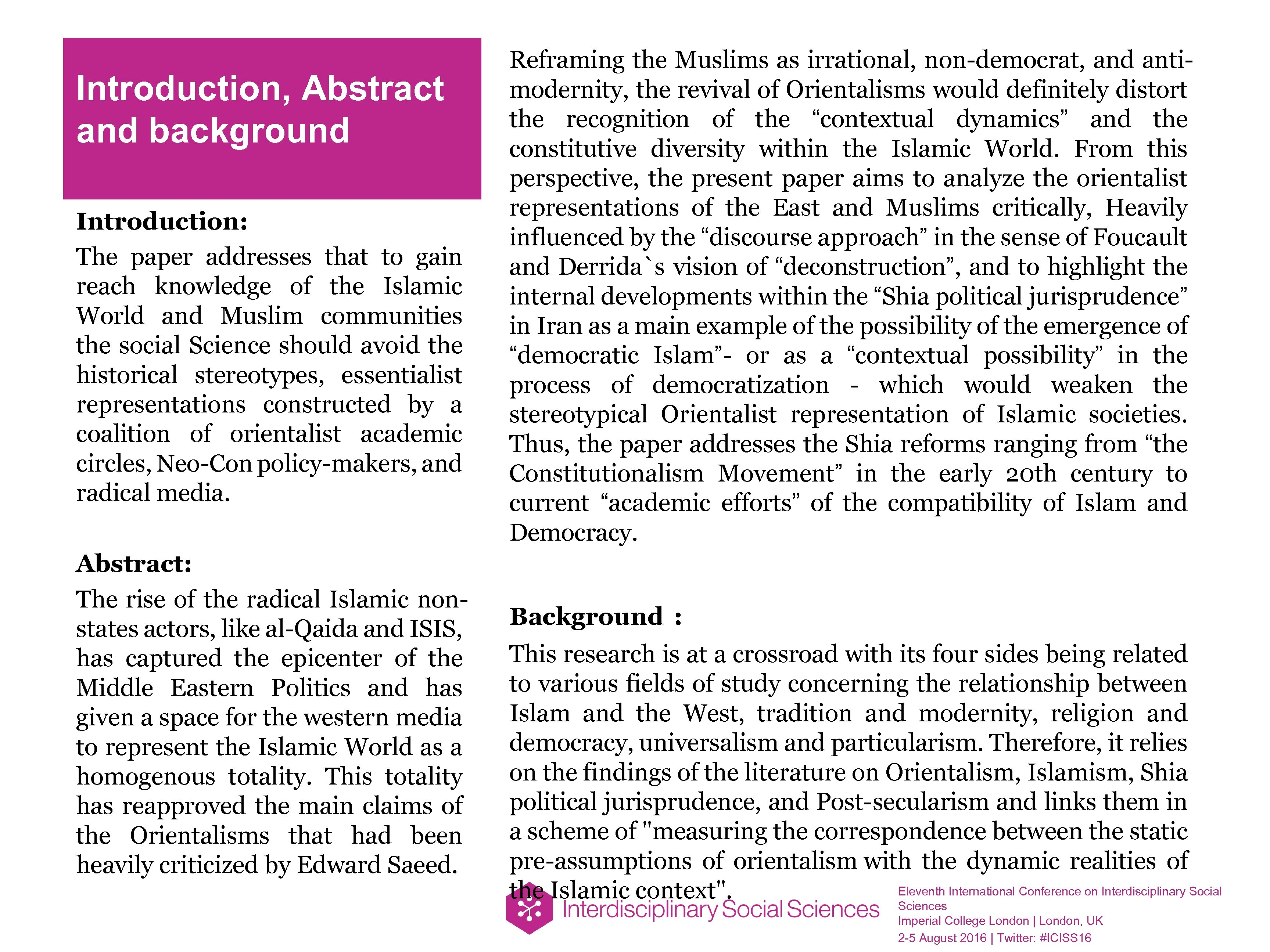 Introduction, Abstract and background Introduction: The paper addresses that to gain reach knowledge of
