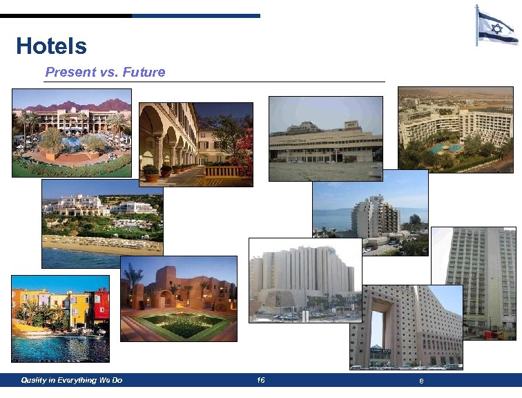 Hotels Present vs. Future Quality in Everything We Do 16 e