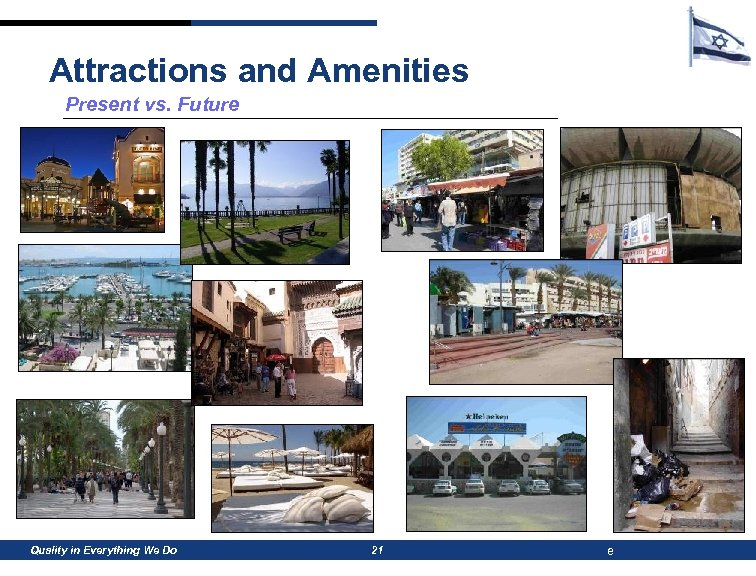 Attractions and Amenities Present vs. Future Quality in Everything We Do 21 e