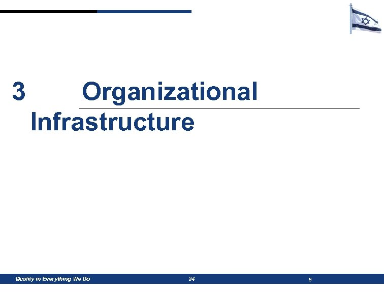 3 Organizational Infrastructure Quality in Everything We Do 24 e