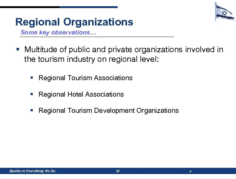 Regional Organizations Some key observations… § Multitude of public and private organizations involved in