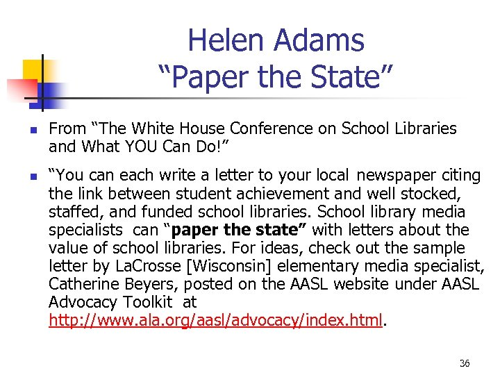 "Helen Adams ""Paper the State"" n n From ""The White House Conference on School"