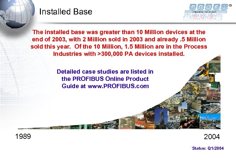 Installed Base The installed base was greater than 10 Million devices at the end