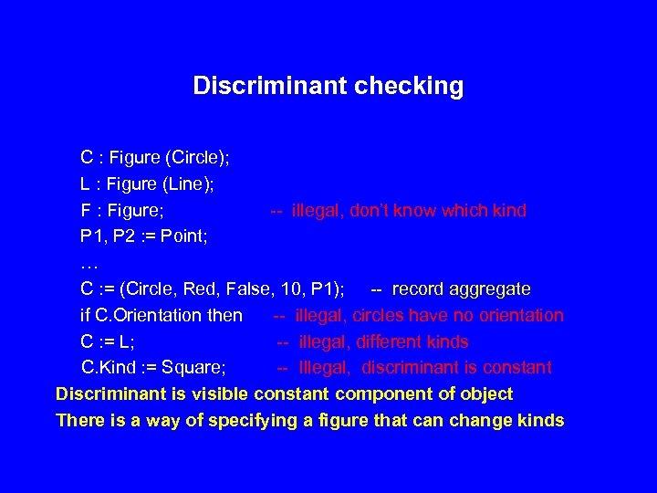 Discriminant checking C : Figure (Circle); L : Figure (Line); F : Figure; --