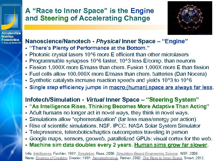 "A ""Race to Inner Space"" is the Engine and Steering of Accelerating Change Acceleration"