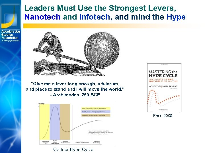 Leaders Must Use the Strongest Levers, Nanotech and Infotech, and mind the Hype Acceleration