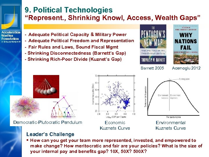 "9. Political Technologies ""Represent. , Shrinking Knowl, Access, Wealth Gaps"" Acceleration Studies Foundation A"