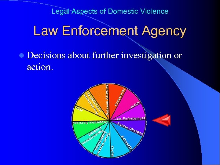 Legal Aspects of Domestic Violence Law Enforcement Agency l Decisions action. about further investigation