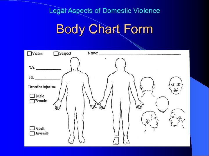 Legal Aspects of Domestic Violence Body Chart Form