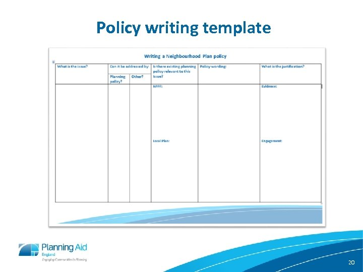 Policy writing template 20