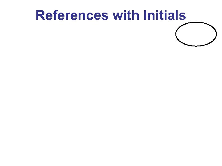 References with Initials