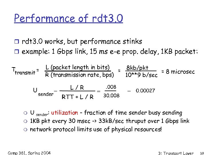 Performance of rdt 3. 0 r rdt 3. 0 works, but performance stinks r
