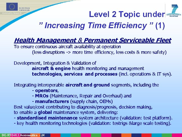 "Level 2 Topic under "" Increasing Time Efficiency "" (1) Health Management & Permanent"