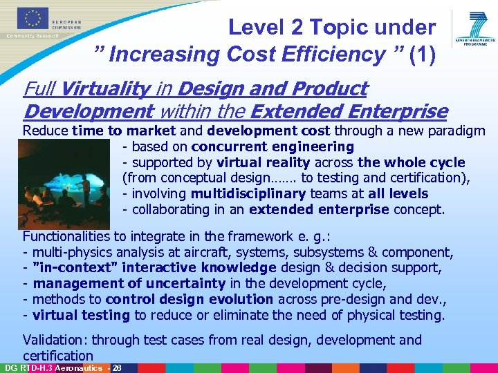 "Level 2 Topic under "" Increasing Cost Efficiency "" (1) Full Virtuality in Design"