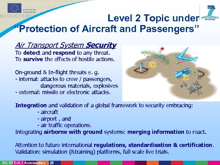 """Level 2 Topic under """"Protection of Aircraft and Passengers"""" Air Transport System Security To"""